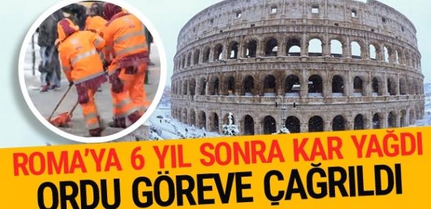 Roma'da 6 yıl sonra kar yağdı! Ordu göreve çağrıldı
