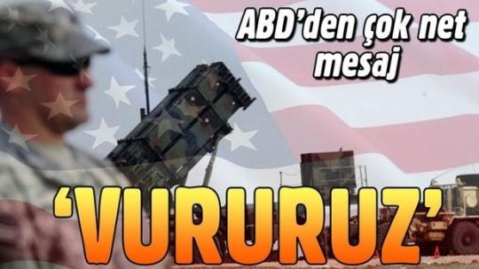 ABD'den Esad'a 'vururuz' mesajı