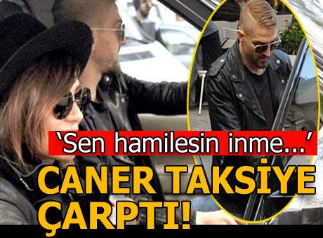 Caner Erkin taksiye çarpıp kaçtı