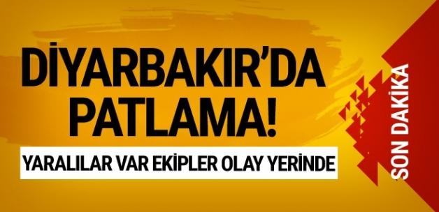 Diyarbakır'da patlama! Yaralılar var ekipler sevk edildi