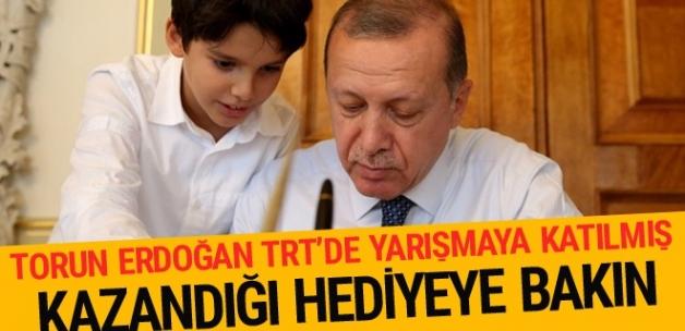 Erdoğan'ın torunu TRT'de yarışmaya katılmış!