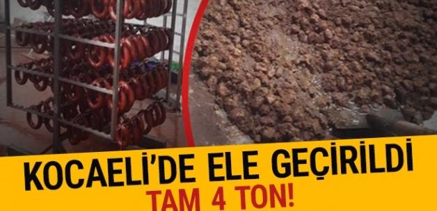 Kocaeli'de 4 ton kaçak et ele geçirildi!