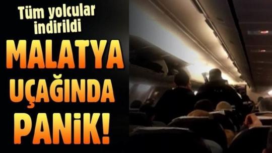 Malatya'da uçakta panik: 2 kişi gözaltına alındı