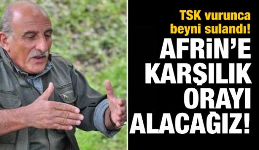 PKK'lı Kalkan: Afrin'e karşılık orayı alacağız