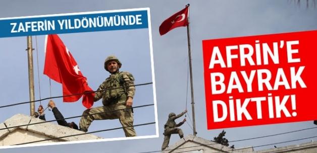 Son Dakika! Afrin Kent Merkezindeki Hükümet Binasına Türk Bayrağı Asıldı