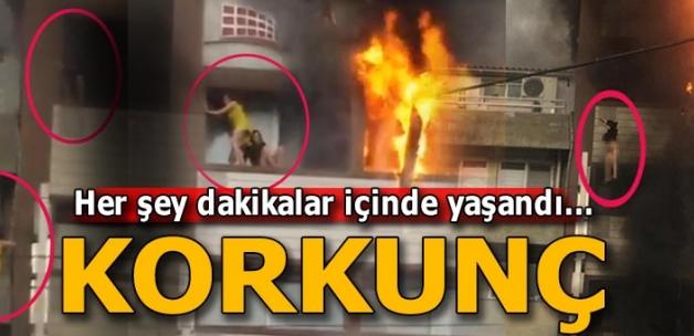 Son dakika: İzmir'de otelde yangın çıktı! Böyle kurtulmaya çalıştılar...