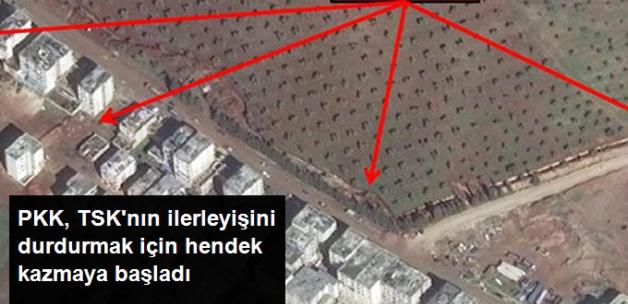 Terör Örgütü, TSK'nın Afrin'e Yönelik Kara Harekatına Karşılık Hendekler Kazmaya Başladı