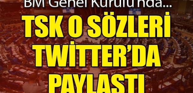 TSK Twitter'dan paylaştı! BM Genel Sekreteri'nden flaş Afrin yorumu