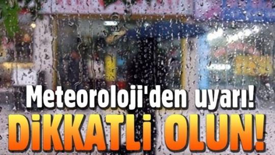 Zonguldak ve Karabük için yağış uyarısı