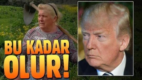 ABD'li çiftçi Dolores Leis Antelo Trump'a ikizi kadar benziyor