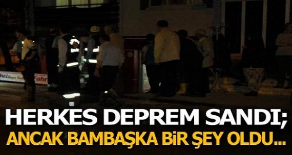 Amasya'da panik! Herkes deprem sandı ama bambaşka birşey oldu!