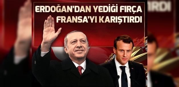 Cumhurbaşkanı Erdoğan'ın fırçası Fransa'yı karıştırdı