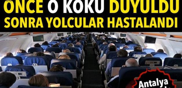 Antalya uçağında acil iniş yaptıran koku! 8 yolcuya müdahale