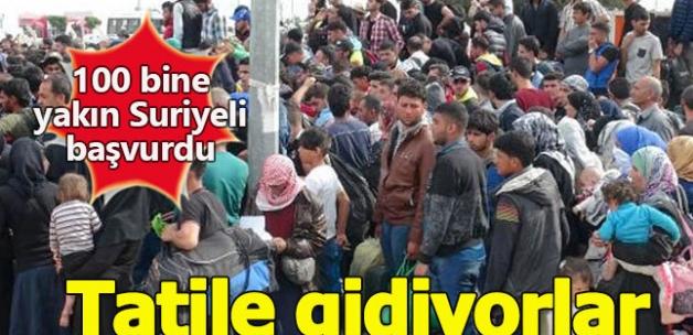 Binlerce Suriyeli bayram tatili için