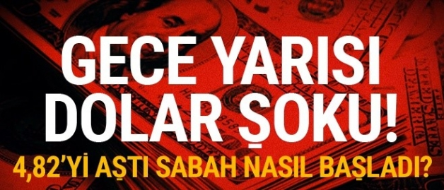Gece yarısı dolar şoku! Dolar gece yarısı çıldırdı bugün kaç lira?