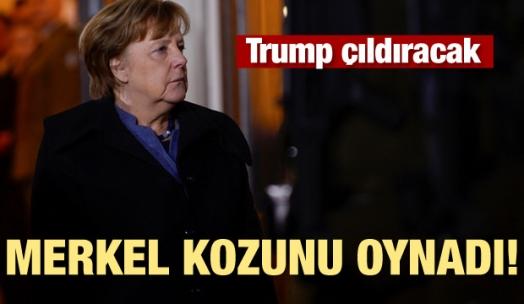 Merkel kozunu oynadı! Trump çıldıracak