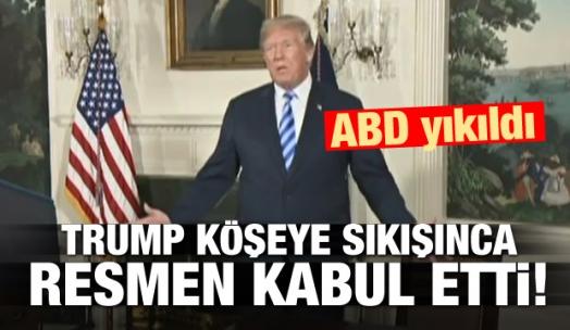 Trump resmen kabul etti! ABD yıkıldı
