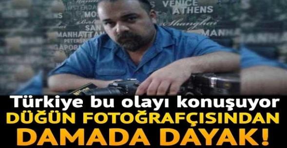 Türkiye bu olayı konuşuyor! Düğün fotoğrafçısından damada dayak!