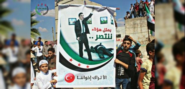 İdlib'te tartışma yaratacak fotoğraf
