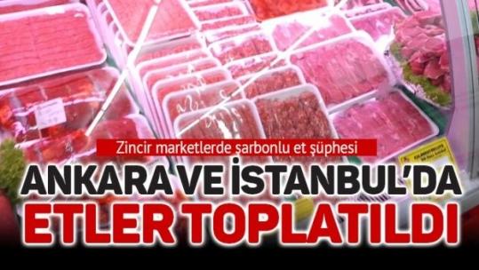 İstanbul ve Ankara'da  bir şarbon alarmı daha! Etler toplatılıyor!