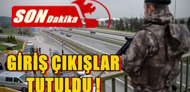 İstanbul'a Giriş ve Çıkışlar Tutuldu