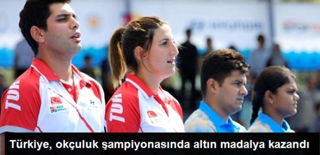 Türkiye Dünya Okçuluk Şampiyonasında Altın Madalya Kazandı...