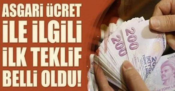 2019 Asgari ücret için ilk rakam teklifi açıklandı