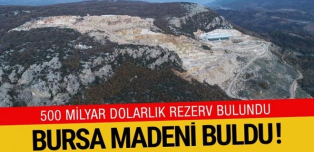 Bursa'da 500 milyar dolarlık maden rezervi bulundu