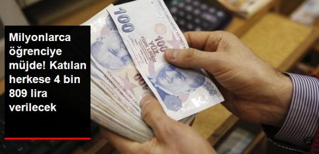 Öğrenciye Müjde! Devlet 4 Bin 809 Lira Verecek