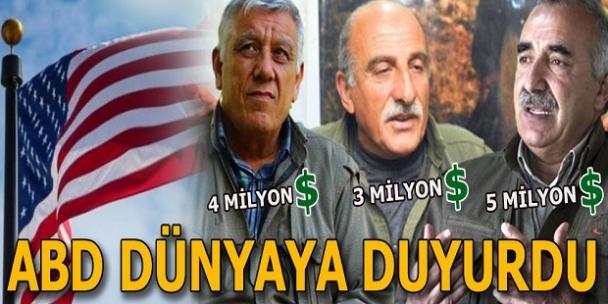 Son dakika... ABD'den üç terörist başına 12 milyon dolar ödül!