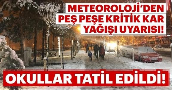 Yoğun kar yağışı bekleniyor! Okullar tatil edildi