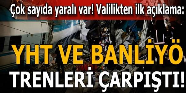 Son dakika: Ankara'da Yüksek Hızlı Tren kazası! Ankara Valisi: 4 ölü, 43 yaralı