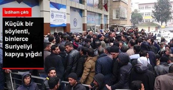 Küçük bir söylenti, binlerce Suriyeliyi kapıya yığdı