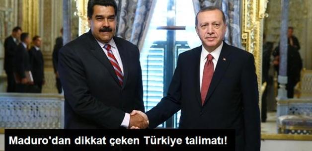 Maduro'dan Dikkat Çeken Türkiye Talimatı