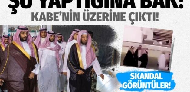Veliaht Prensi Selman Kabe'nin üzerine çıktı! Olay görüntüler