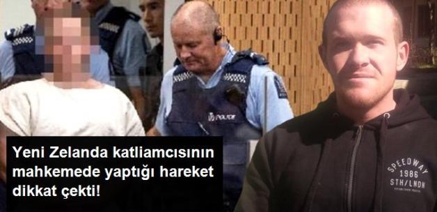 49 Kişiyi Öldüren Teröristin Mahkemede Yaptığı Hareket Dikkat Çekti