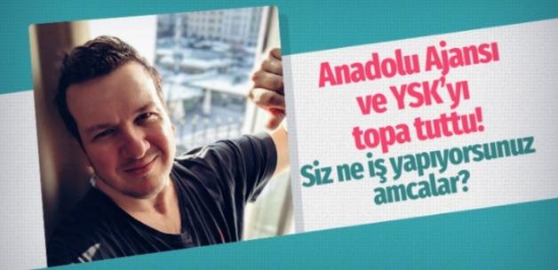 Türkiye Anadolu Ajansı ile YSK'yı topa tuttu!