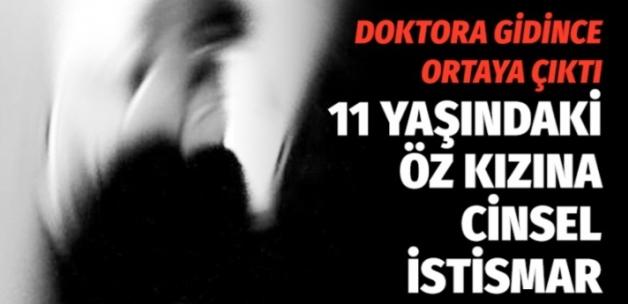 Kayseri'de Öz kızına cinsel istismar