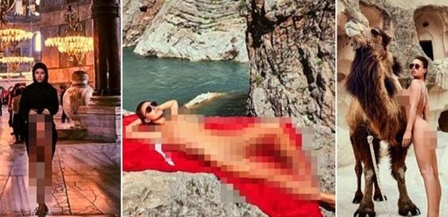 Ayasofya'da çıplak poz veren Belçikalı Marisa Papen'e soruşturma