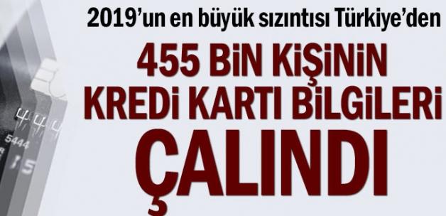 2019'un en büyük sızıntısı Türkiye'den... 455 bin kişinin kredi kartı bilgileri çalındı.HEM BANKAMATİK HEM KREDİ KARTLARI