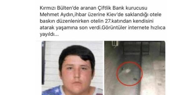 Fotoğrafın Çiftlik Bank'ın kurucusu Mehmet Aydın'ın ölümünü gösterdiği iddiası