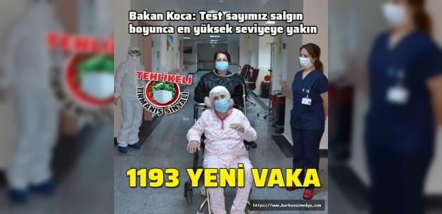 Son dakika... Koronavirüs salgınında yeni vaka sayısı 1193