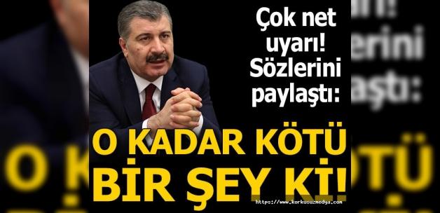 Son dakika! Sağlık Bakanı Fahrettin Koca'dan korkutan uyarı: O kadar kötü ki, ölüm korkusu başlıyor!