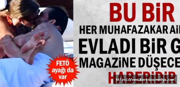 Bu bir her muhafazakar ailenin evladı bir gün magazine düşecektir haberidir