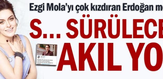 Ezgi Mola'yı çok kızdıran Erdoğan mesajı: S… sürülecek akıl yok