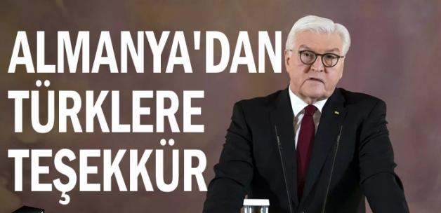 Almanya'dan Türklere teşekkür