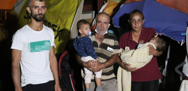 7 kişilik aile, 2,5 aydır boş araziye kurdukları çadırda yaşıyor