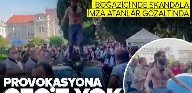 Boğaziçi Üniversitesi'ndeki skandal olaya karışan 10 provokatör gözaltında .