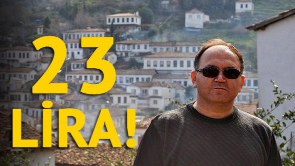 23 lira 25 kuruşluk menfaat soruşturması