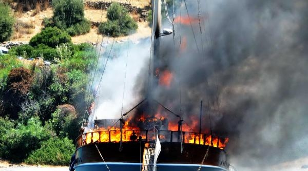 2 Milyon Euro'luk Yat, Alevler İçinde